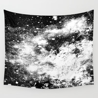 Chaotic Space : Galaxy Black White Gray Wall Tapestry by 2sweet4words Designs