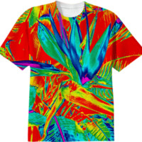 Trippy Bird of Paradise Tshirt created by PoseManikin | Print All Over Me