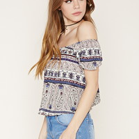 Paisley Off-the-Shoulder Top | Forever 21 - 2000176382