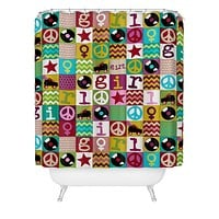 Sharon Turner Patch Girl Shower Curtain
