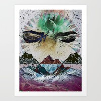 Close Your Eyes Art Print by Lexi Colt