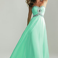 Strapless Prom Gown by Night Moves 6642