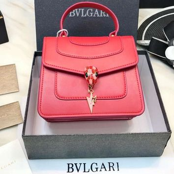 BVLGARI organ bag snake head bag lady handbag shoulder bag F-BCZ(CJZX) red