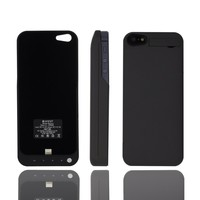 For Apple Iphone 5 4200mah External Rechargeable Spare Backup Extended Battery Charger Pack Case Cover-for iPhone 5 & 5s