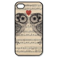 Owls on Sheet Music iPhone 4/4s Case