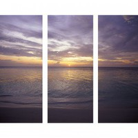 "Graham & Brown Sunset At Sea Printed Canvas Art - 40"" X 48"" (Set of 3) - 43288 - All Wall Art - Wall Art & Coverings - Decor"