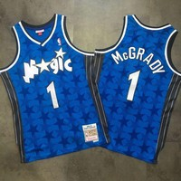 DCCK Orlando Magic M&N 1 Tracy McGrady Blue Swingman NBA Jerseys
