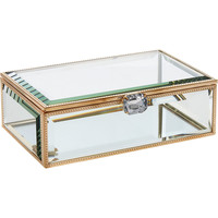 "Gold Tone Glass Trinket Box 7"" - Decorative Accessories - Home Accessories - Home - TK Maxx"