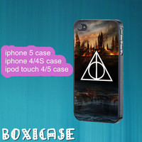 Harry Potter Deathly Hallows--iphone 4 case,iphone 5 case,ipod touch 4 case,ipod touch 5 case,in plastic,silicone and black,white.