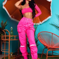 Where Its At Two Piece Set Hot Pink