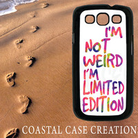 Samsung Galaxy S3 Hard Plastic or Rubber Cell Phone Case Cover Original Tie Dye Limited Edition Quote Design
