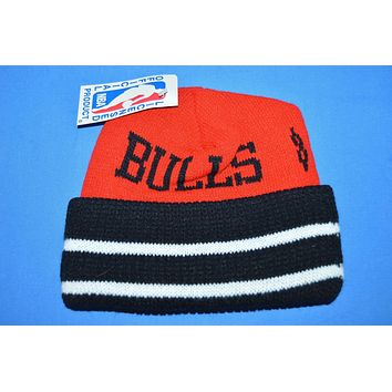 80s Chicago Bulls New With Tags Knit Beanie Hat