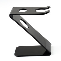 Barber Salon  Stand Holder Black Z Stand Holder for Straight Razor and Brush Tool Shaving