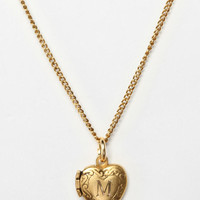 Urban Outfitters - Initial Heart Locket Necklace
