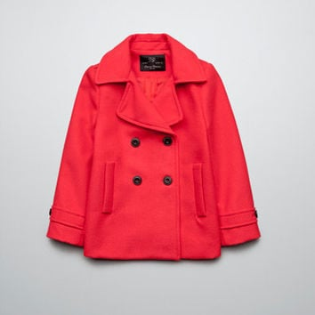 DOUBLE BREASTED WOOLLEN THREE QUARTER LENGTH COAT - Girl - New this week - ZARA United States