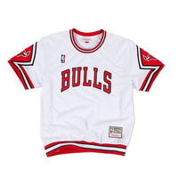 Mitchell & Ness Chicago Bulls Authentic Shooting Shirt in White