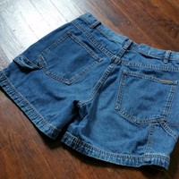 Vintage CALVIN KLEIN JEANS Blue Denim Painter Carpenter Cargo Shorts  6 S M