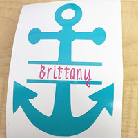 Solid anchor name decal