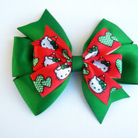 You Choose One Or Three Pinwheel Hello Kitty or Double Boutique Hair Bows