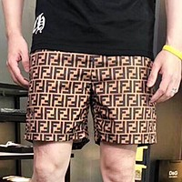 Fendi New fashion more letter print shorts men