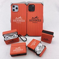 Hermes Fashion iPhone Phone Cover Case For iPhone Phone Cover Case For iphone 7 7plus 8 8plus X XR XS MAX 11 Pro Max 12 Mini 12 Pro Max For Apple AirPods 1 2 Pro Protective Case Headphone Case Shell No Headset