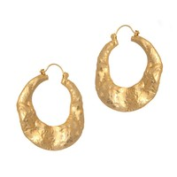 Rose Pierre Banyan Tree Bark Hoop Earrings