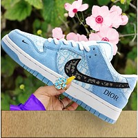 NIKE SB DUNK LOW casual shoes skateboard shoes low-top sneakers blue