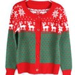 Color Block X'max Deer Red Sweater$40.00