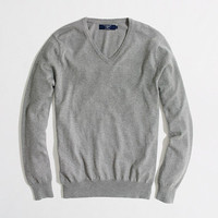 Factory cotton-cashmere V-neck sweater