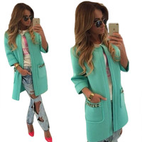 Candy Color Long Open Stitch Classy Spring Trench Coat