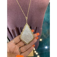 Amber Necklace- Golden Pendent