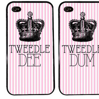 Bff Case / Tweedle DEE Tweedle DUM iPhone 4 Case Best Friends iPhone 5 Case iPhone 4S Case iPhone 5S Case One 4 Your BFF Personalized Name