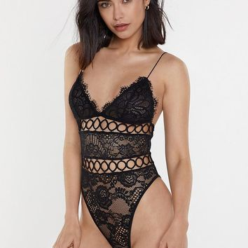 Lovefool Lace Crochet Bodysuit