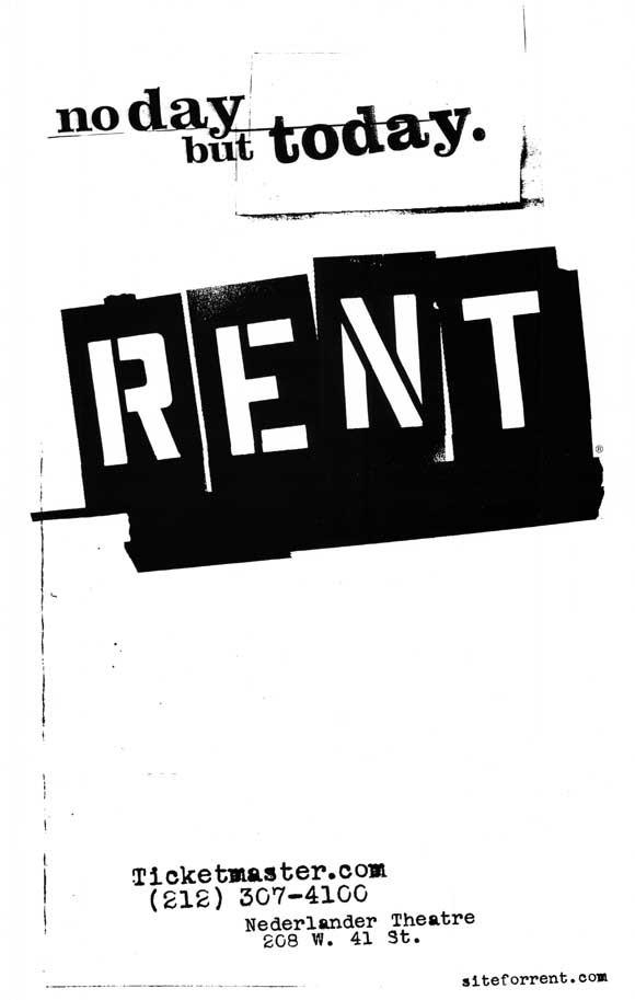 Image of Rent 27x40 Broadway Show Poster