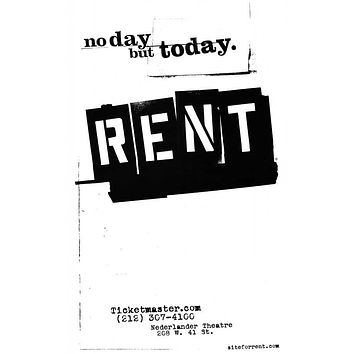Rent 27x40 Broadway Show Poster