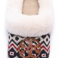 Tory Burch Coley Knit Shearling Lined Slippers | SHOPBOP