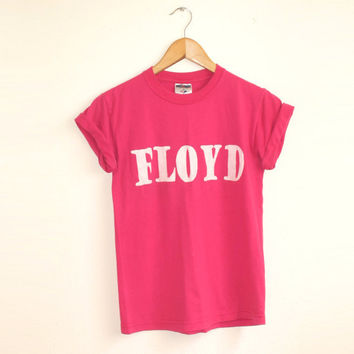 Floyd Shirt in Pink - Vintage Rocker Color Band Tee - S M L XL 2XL