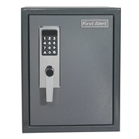 First Alert 2077DF Anti-Theft Safe with Digital Lock, 1.2 Cubic Foot, Gray