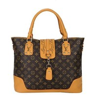 Louis Vuitton LV Women Fashion Leather Tote Handbag Shoulder Bag Satchel-7