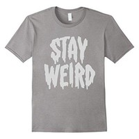 DCCKV2S Stay Weird' Creepy Cute Pastel Goth Graphic T-Shirt 100% Cotton T-Shirts for Man Top Tee Men T Shirt Free Shipping Plus Size