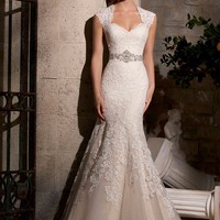 Mori Lee 2719 Lace Fit and Flare Wedding Dress