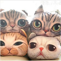 36*30CM 1pcs Stuffed Dolls 3D Simulation Cats Pillows and Cushions Plush Toys High Quality P097