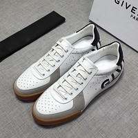 Givenchy Men's Leather Fashion Low Top Sneakers Shoes