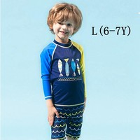 4-11Y Separate Swimwear Boy Two Pieces Rash Guards Toddler Boys Swimsuit Children Sun Protection Sunsuit Bathing Suits for Kids