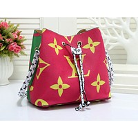 LV hot selling lady's casual shopping bag fashion printed patchwork color shoulder bag #5