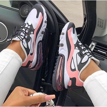 Nike Air Max 270 React New Fashion Women Men Sports Leisure  Shoes
