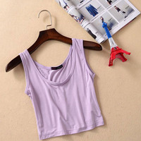 Casual Cropped Tank Top