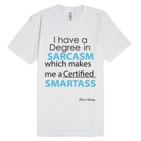 Certified Smartass-Unisex White T-Shirt