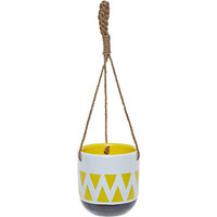 White & Yellow Hanging Pot 18cm