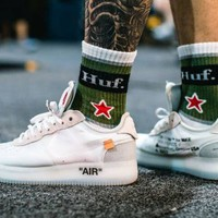 2018 New Off White Force 1 Ones Shoes Running Shoes For Men, Top Quality Virgil Abloh Low Air Casuals Shoes Sneakers Eur 40-46